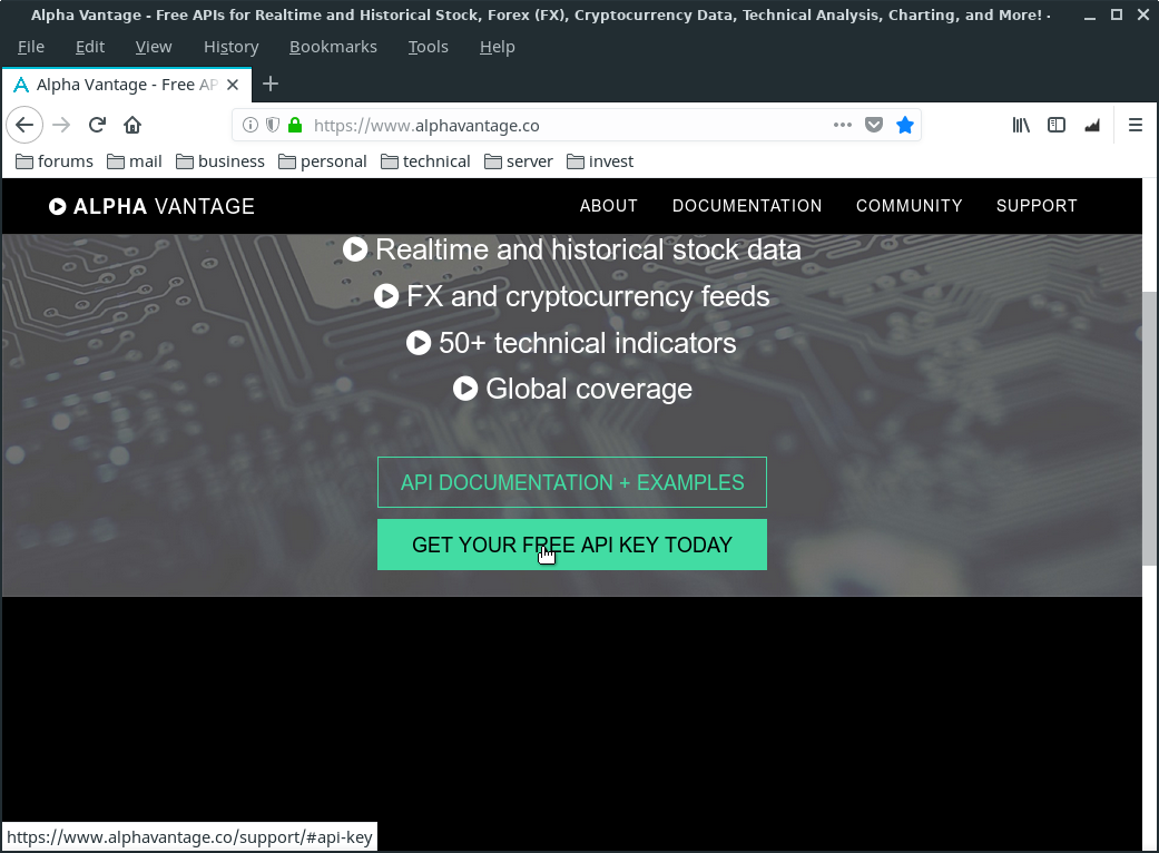 Investment Monitoring Tools Linux Lite 4 x & AlphaVantage API